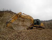 Услуги гусеничного экскаватора NEW HOLLAND E245B, погрузка горной массы и вскрыша