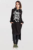 Платье-туника из двухнити турецкого производства батал, фото 1