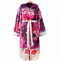 Женский халат с капюшоном на молнии, материал махра. Размеры: 44-46, 48-50, 52-54, 56- 58, 60-62. Цвет на фото