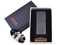 Электроимпульсная зажигалка Lighter в подарочной упаковке (Двойная молния, USB)