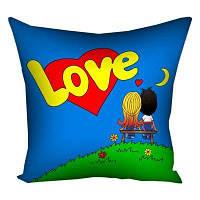 Подушка с принтом 40х40 см Love...