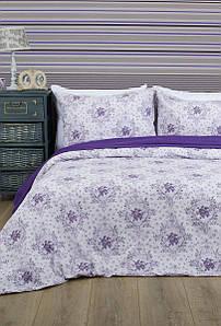 Постельное белье Lotus Premium - Anna лиловый семейное