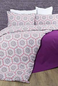 Постельное белье Lotus Premium - Esther бордовый семейное