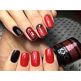 Гель-лак Oxxi professional (10 мл) №006 (розово-красный, с микроблеском), фото 4