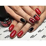 Гель-лак Oxxi professional (10 мл) №006 (розово-красный, с микроблеском), фото 5
