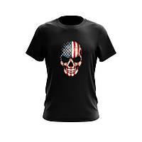 Футболка мужская с принтом Skull USA