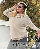 Удлиненный свитер «оверсайз» из тонкого мягкого трикотажа р. 50-58 , фото 4