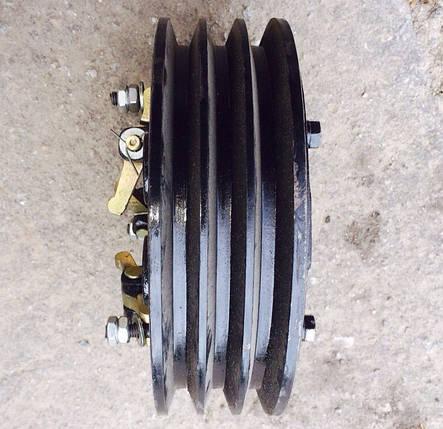 Муфта сцепления в сборе трехручейная КПП мототрактора 12-15 лс, фото 2