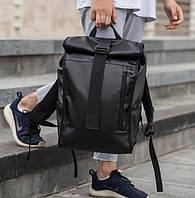 Роллтоп рюкзак кожаный WLKR BAD, фото 1