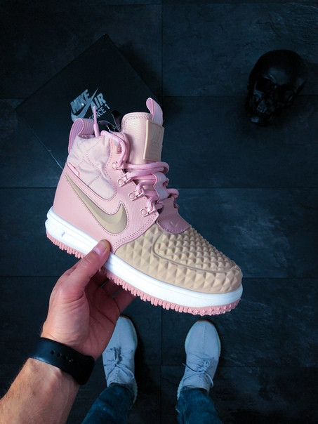 9a0f3f7c Женские кроссовки Nike Wmns Lunar Force 1 Duckboot (Particle Pink / Particle  Pink – Black