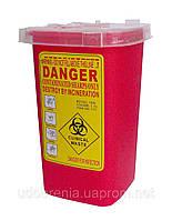 Контейнер д/утилизации игл и других мед.отходов 1 л, п/п,