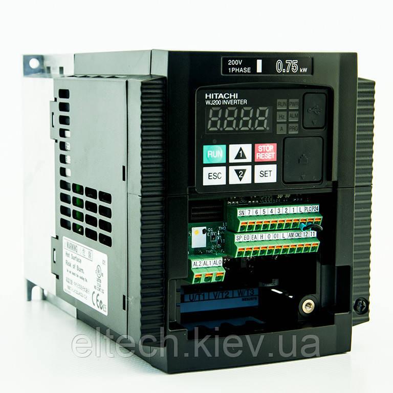 Частотный преобразователь Hitachi WJ200-007SF, 0.75кВт, 220В