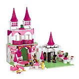 Конструктор Sluban 0151 Розовая мечта Замок Принцесы 508 деталей, фото 2