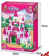Конструктор Sluban 0151 Розовая мечта Замок Принцесы 508 деталей, фото 1