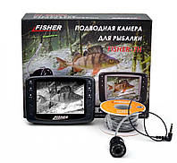 Подводная цветная видеокамера для рыбалки Fisher CR110-7H 15m Гарантия!