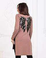 Женская  туника  с разрезами украшена  крыльями  (42-56), фото 1