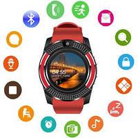 Наручные смарт часы V8 Smart Watch крассные. Лучшее качество
