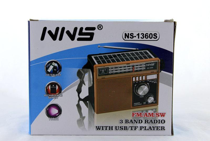 Радиоприемник с солнечной панелью NNS NS-1360S