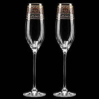 Свадебные бокалы с позолотой, WG-104