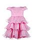 Нарядное  воздушное розовое платье для девочек