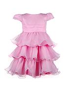 Нарядное  воздушное розовое платье для девочек, фото 1