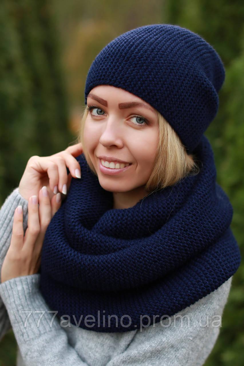 Комплект шапка и снуд шарф хомут