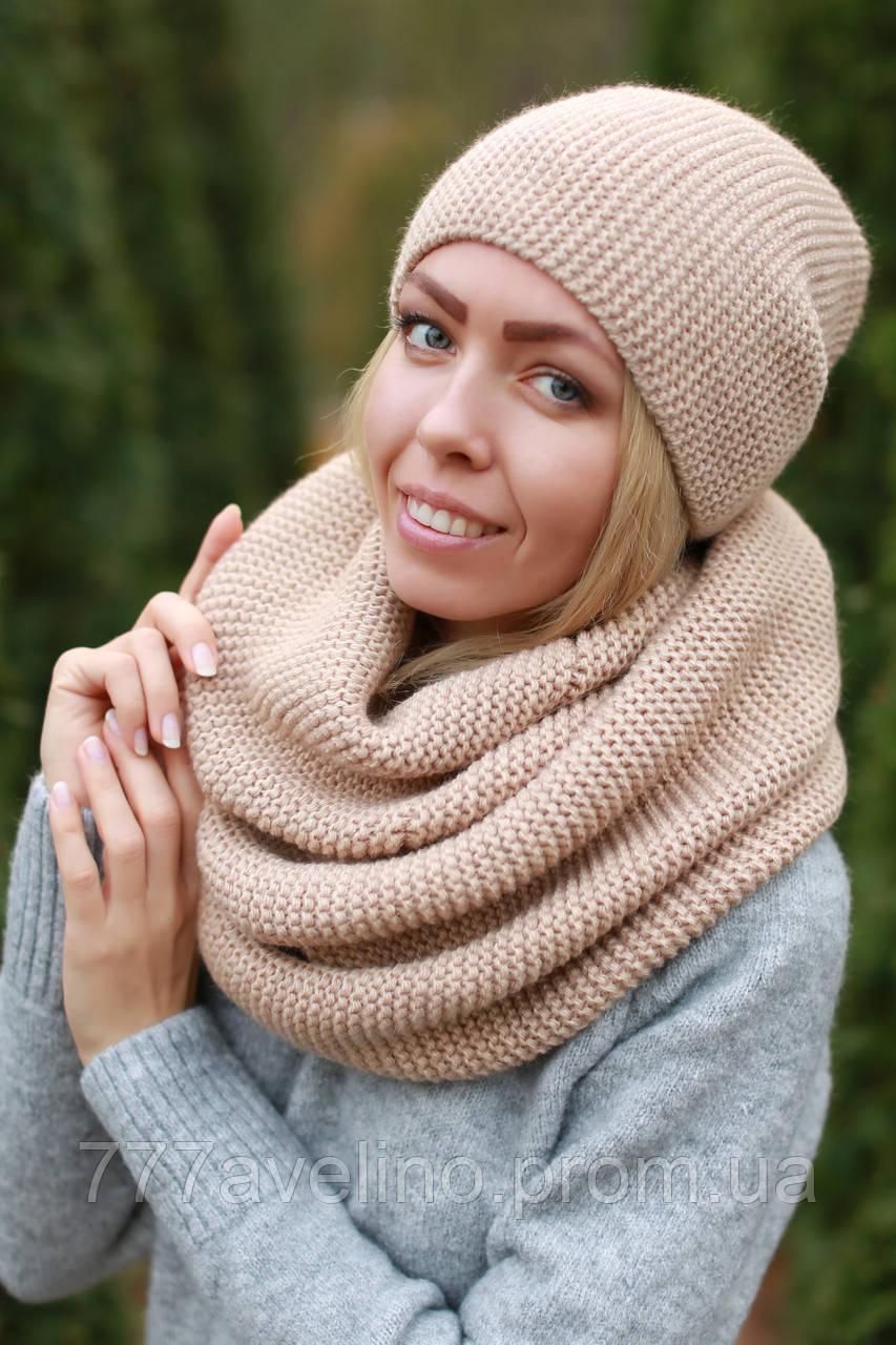 2bdc64b81006 Набор шапка и шарф хомут шерстяной