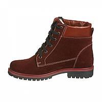 Женские замшевые ботинки яркого цвета на шнуровке , фото 1