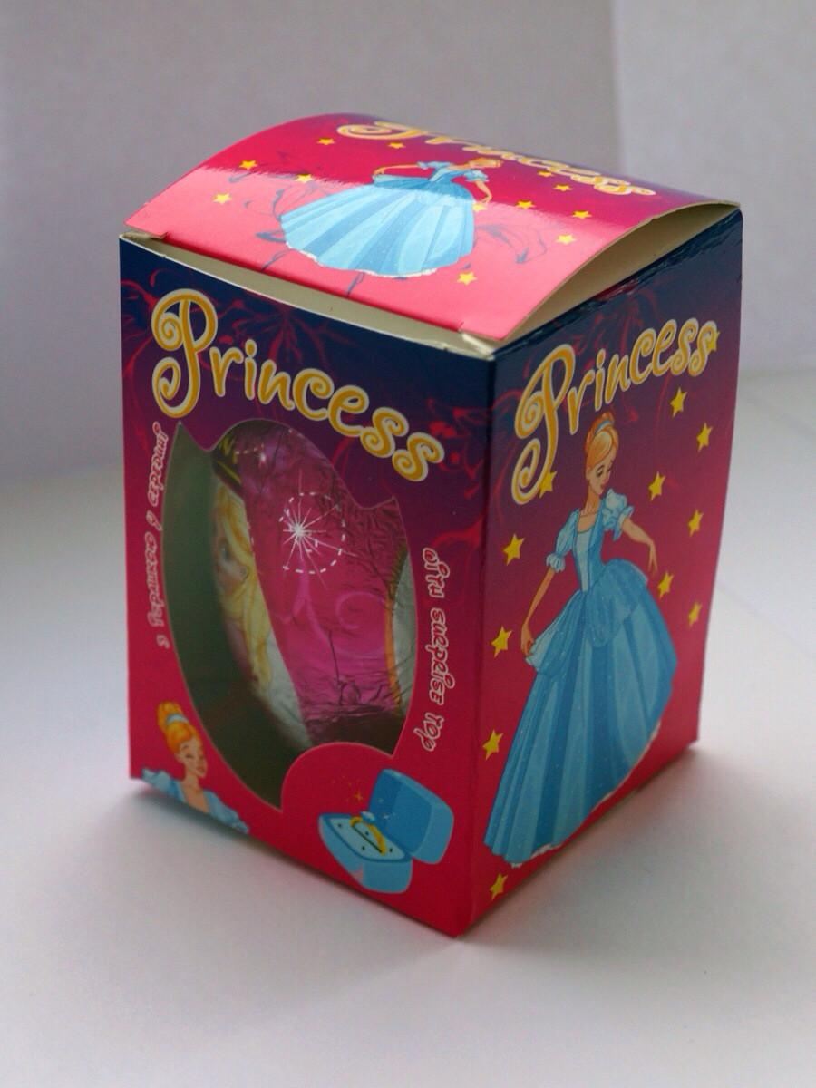 Шоколадное яйцо Princess 50г ( девочкам)