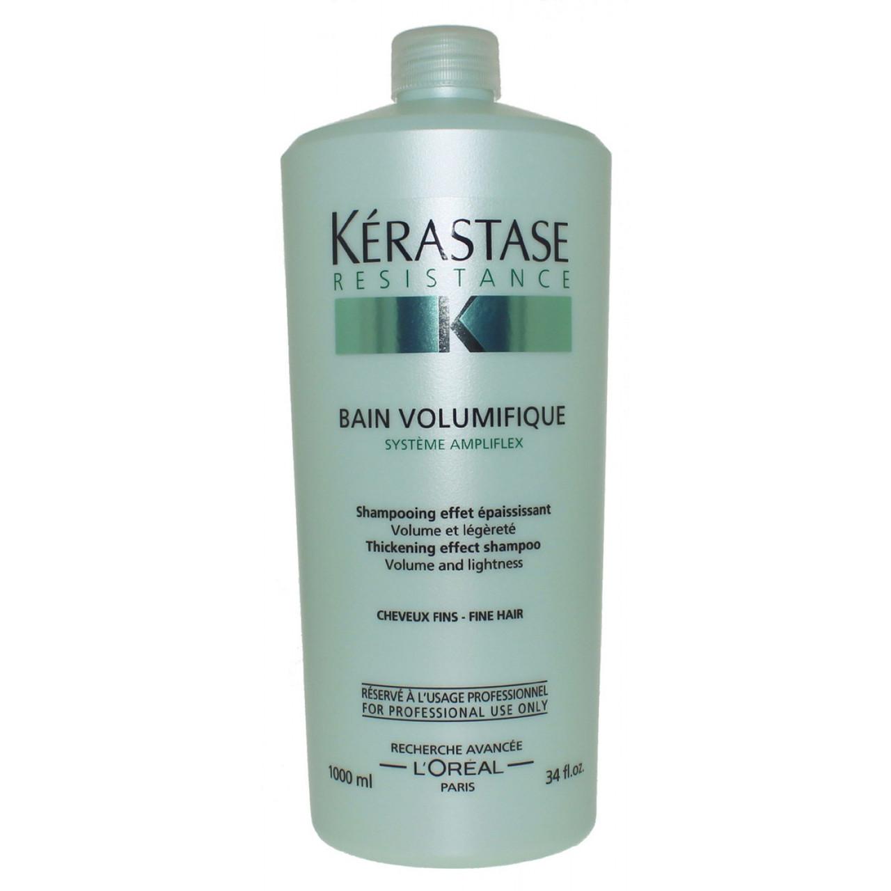 Укрепляющий шампунь для тонких волос 1000 мл Kerastase Resistance Bain Volumifique Shampoo For Fine Hair