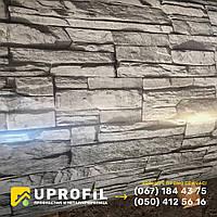 Профлист под Камень серый, профнастил серый камень для забора и фасада 0.42 мм.