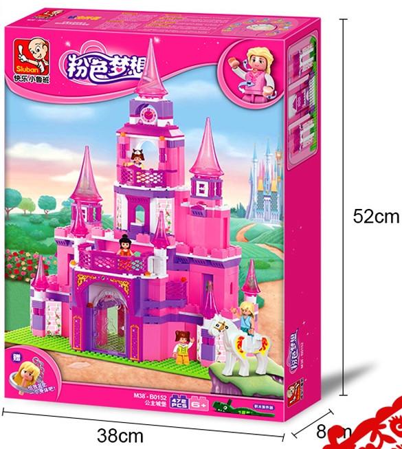 Конструктор Sluban 0152 Розовая мечта Замок Принцесы 472 детали