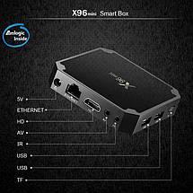 Смарт ТВ приставка X96 Mini S905W 1/8- Smart Tv Box Андроид, фото 3