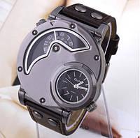 Мужские наручные бизнес-часы OULM Нескольких часовых поясов  коричневые