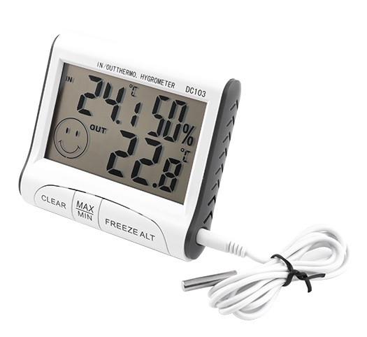Цифровой термометр с гигрометром и выносным датчиком DC-103