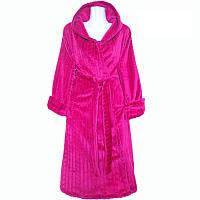 Подростковый халат с капюшоном на запах, материал махра. Размеры: 36-40, 42-46 . Цвет на фото