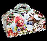 """Упаковка новорічна """"Скриня Колядники"""" для солодощів 500 г в асортименті, фото 2"""