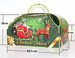 """Упаковка новорічна """"Скриня Колядники"""" для солодощів 500 г в асортименті, фото 3"""