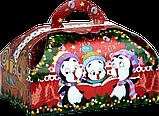 """Упаковка новорічна """"Скриня Колядники"""" для солодощів 500 г в асортименті, фото 7"""