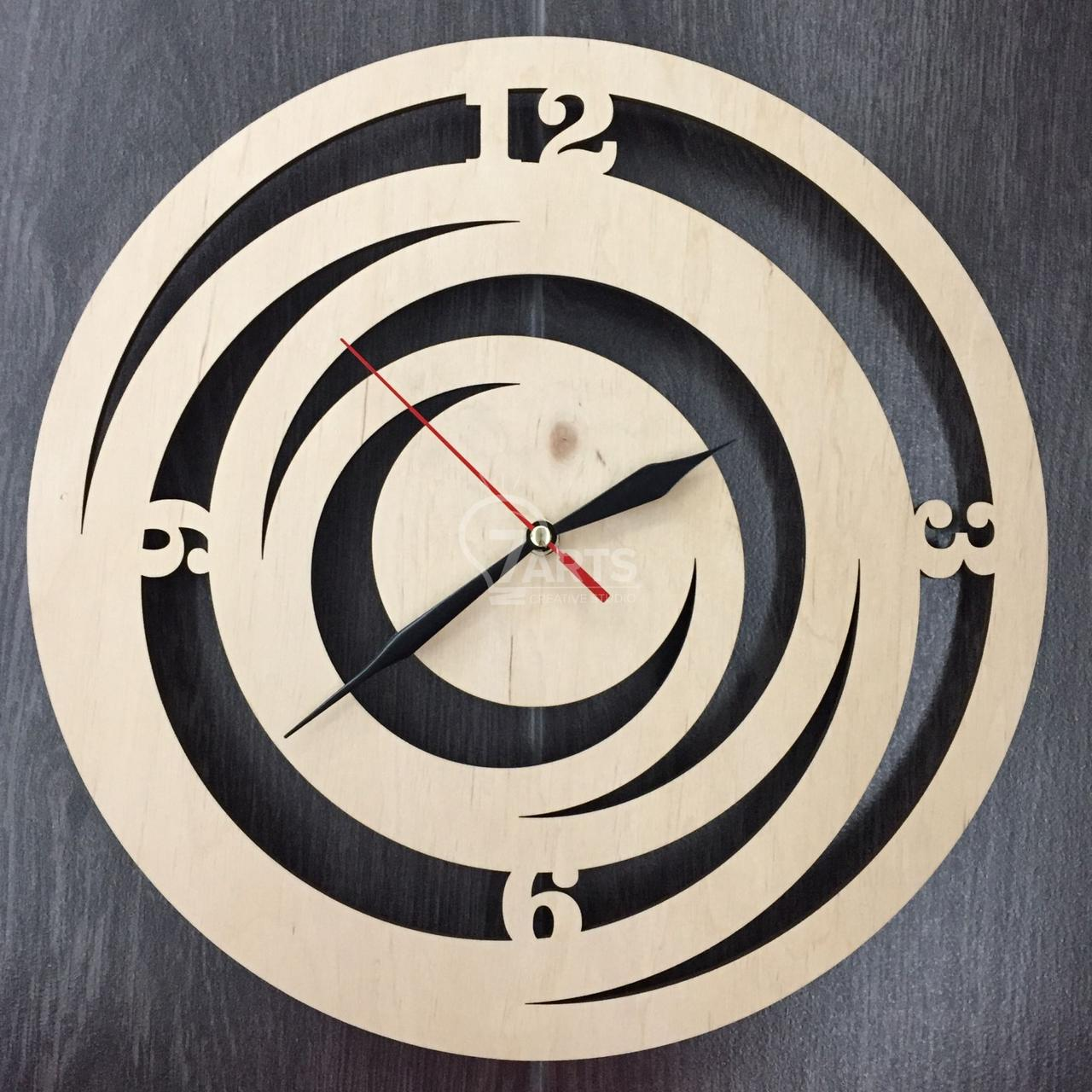 Стильные деревянные настенные часы ручной работы Модерн