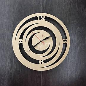 Стильные деревянные настенные часы ручной работы Модерн, фото 2