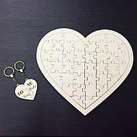 Мега оригинальный деревянные подарок на свадьбу, рождение, годовщину Сердце-пазл