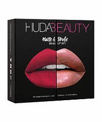 Набор из 4 мини-помад Huda Beauty Matte and Strobe Heartbreaker Set