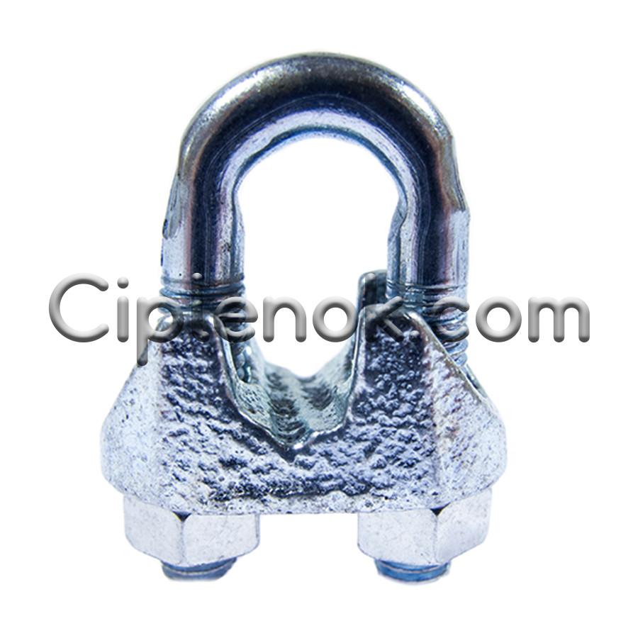 Зажим винтовой d.6 DIN 741 для стального троса