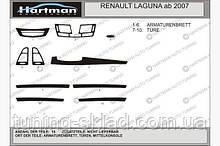 Накладки на торпеду (Hartman) Renault Laguna 2007+  (декор панели Рено Лагуна)