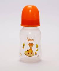 Бутылочка выгнутая с силиконовой соской, 125 мл.LI 144