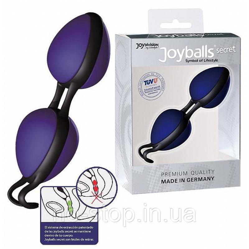 Вагинальные шарики - Joyballs secret, blue-black