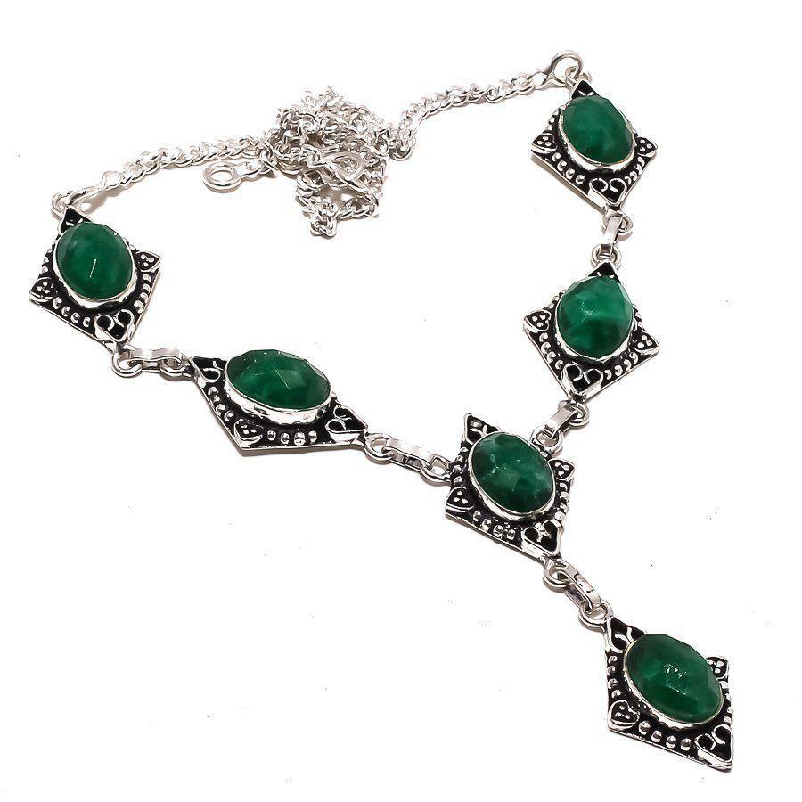 Изумруд натуральный ожерелье с изумрудом Индия