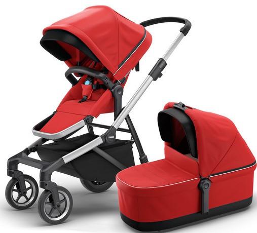 Детская универсальная коляска премиум класса 2 в 1 Thule Sleek Energy Red