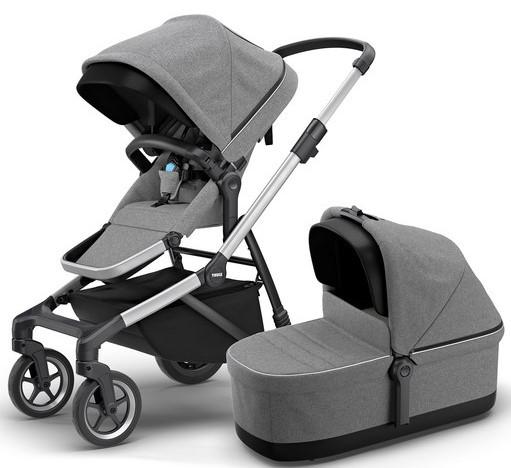 Детская универсальная коляска премиум класса 2 в 1 Thule Sleek Grey Melange